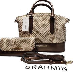 Brahmin Shelburn Satchel Checkbook Wallet